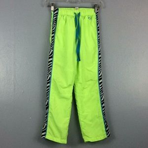 Justice Girls Lime Green Lined Athletic Pants Sz 8